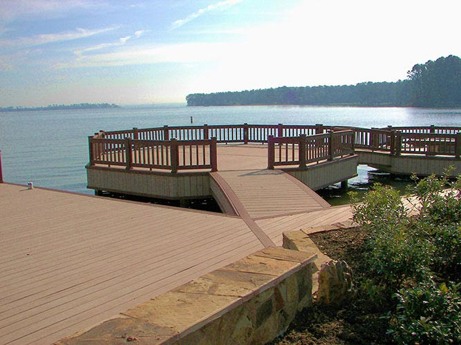 Boardwalk overlooking water