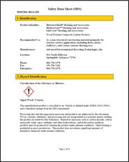 Safety Data Sheet MoistureShield Decking and Accessories preview
