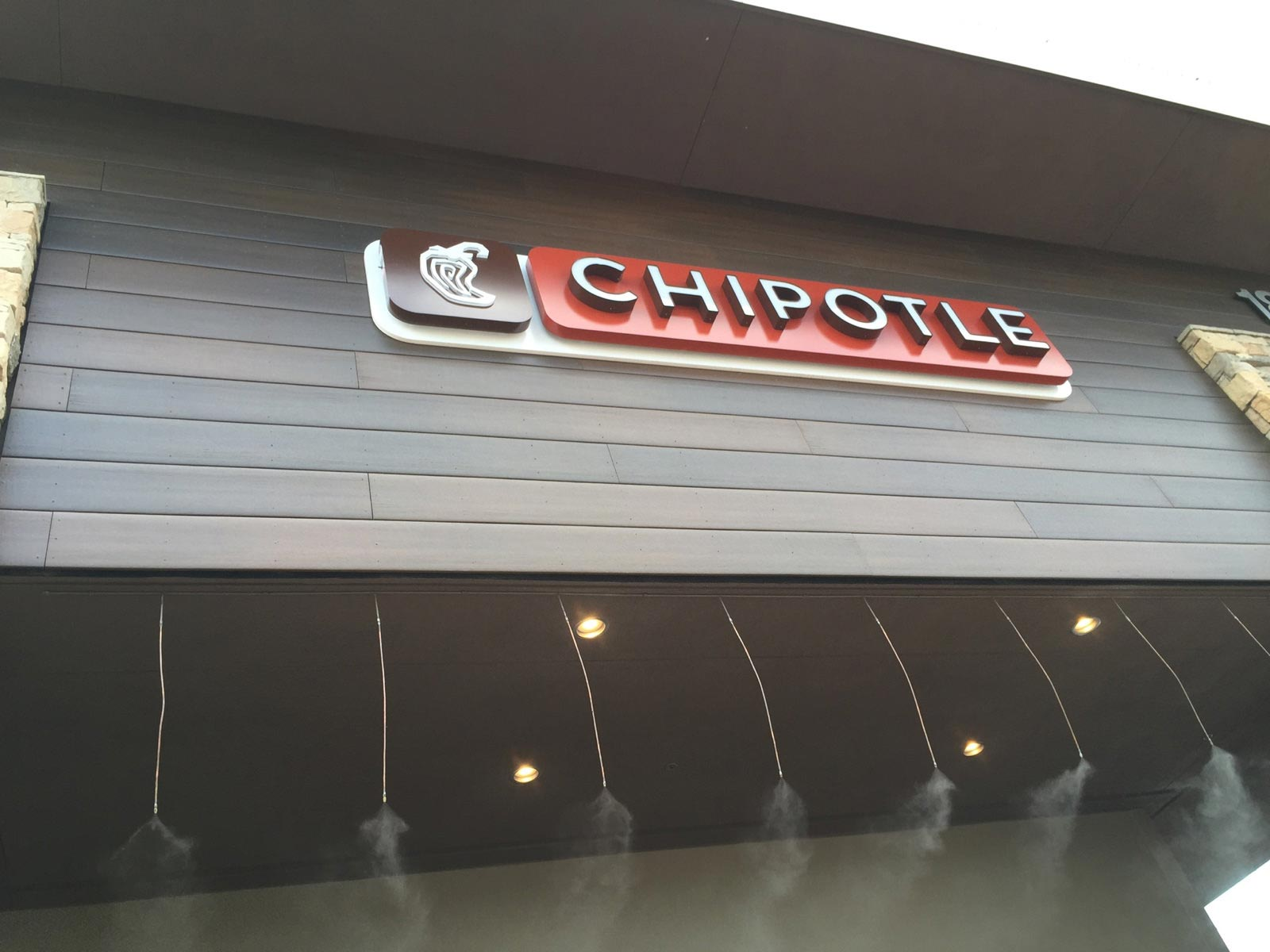 Chipotle sign and MoistureShield