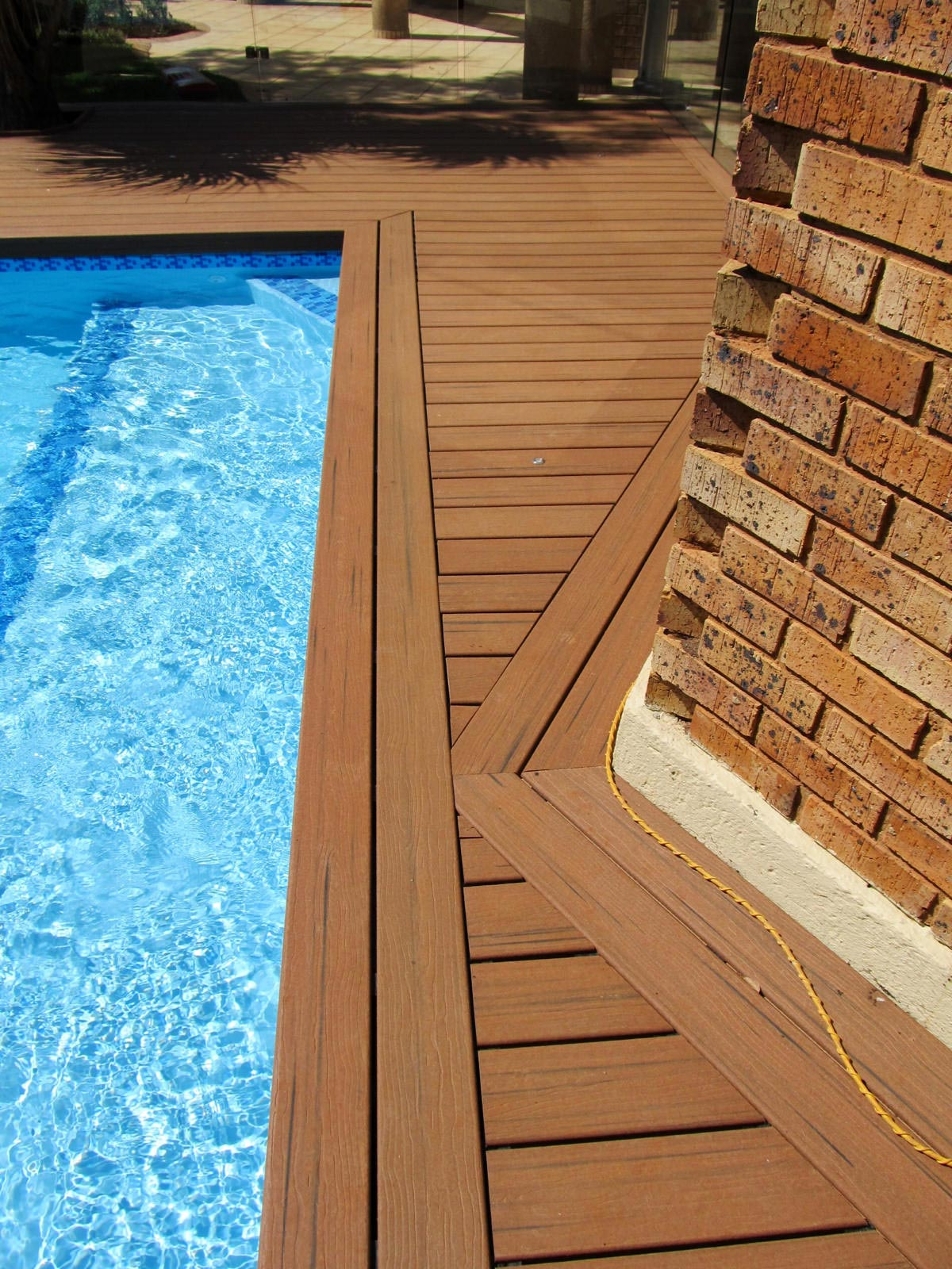 Pool decking closeup