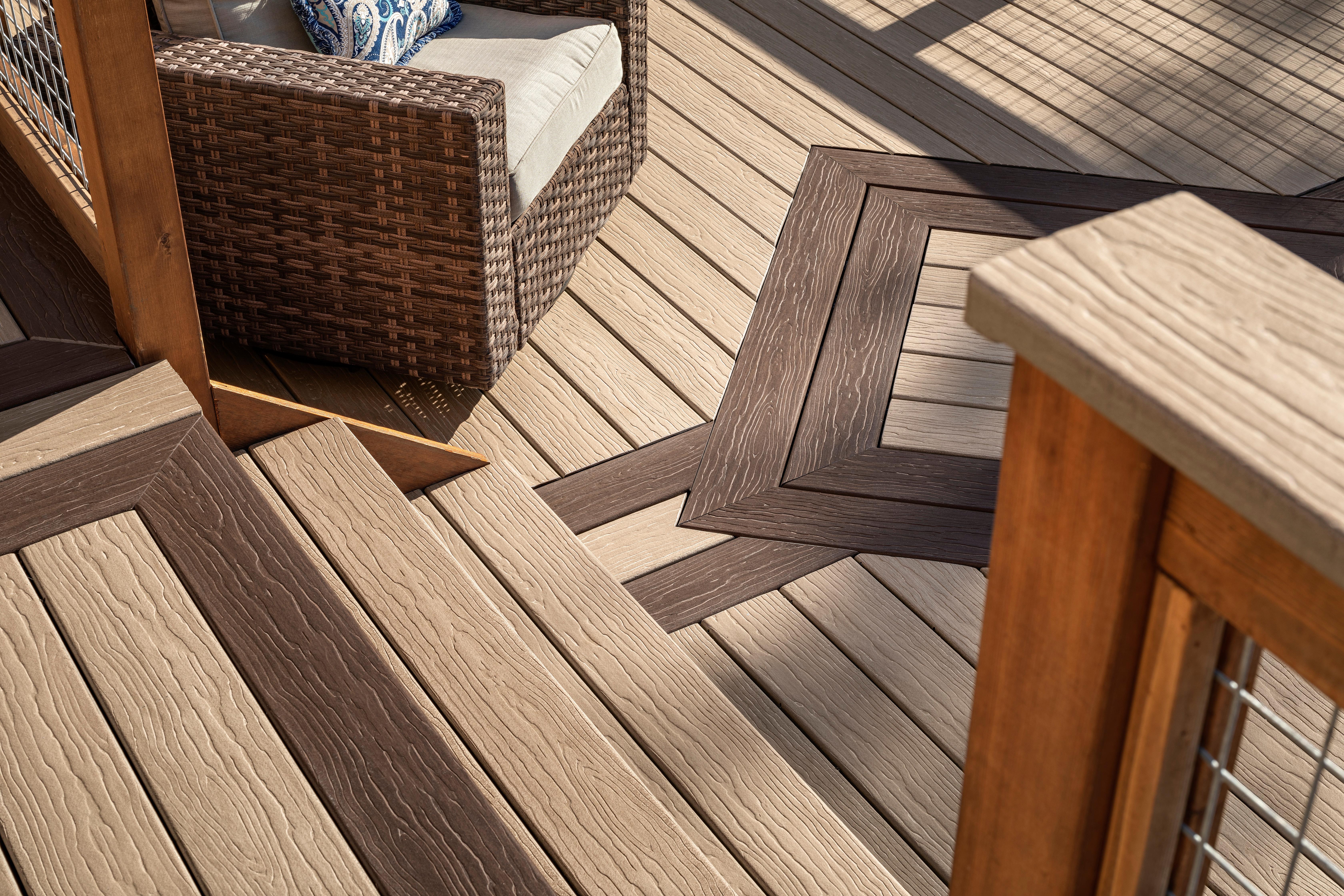 Close view of custom Vision composite deck.